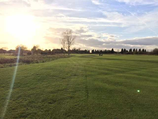Sunset view of the 18th hole at Castle Point Golf Course