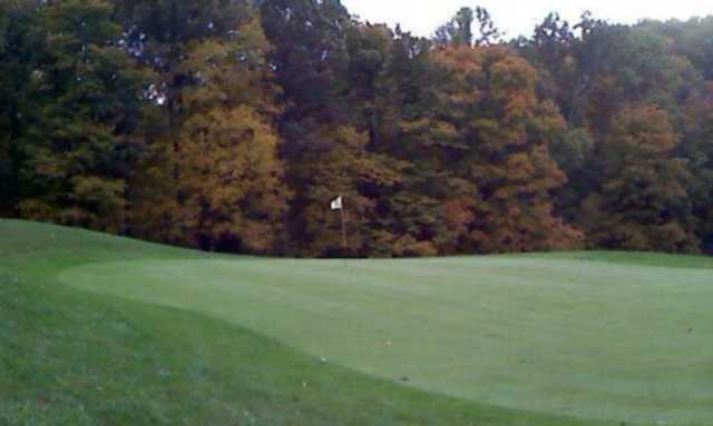 A view of a hole at Cedar Valley Golf Course.