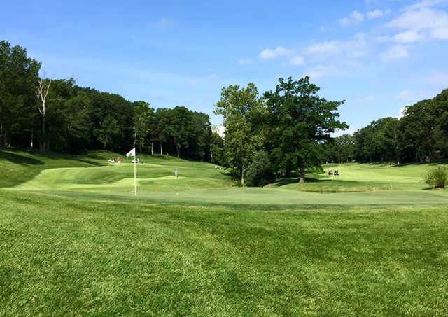 A view of a hole at Franklin County Country Club.