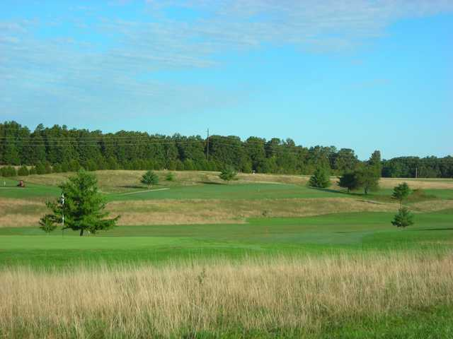 A view of a hole at Oakwood Golf Club.