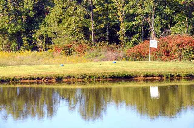 A view of a tee at Pineridge Golf Course (MOGolfTour).