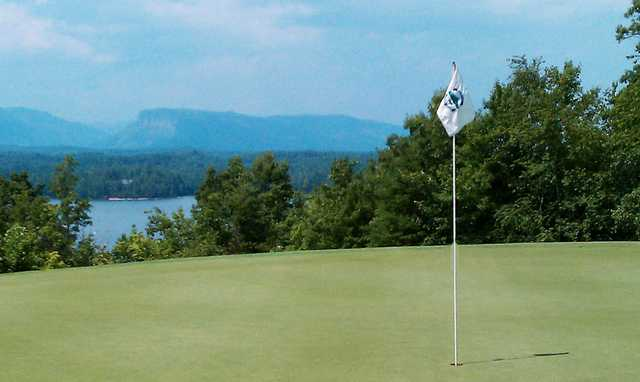 A view of a green at Marion Lake Golf Club