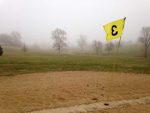A view of the 3rd green at Grant City Golf Course.