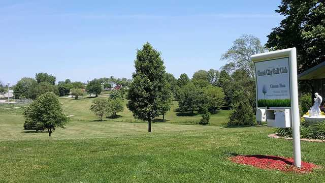 A sunny day view from Grant City Golf Course.