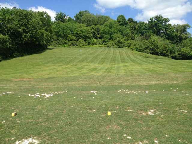 A view of the driving range at Beverly Park Par-3 Golf Course.