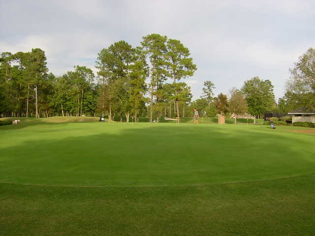 A view of the putting green at Emerald Golf Club