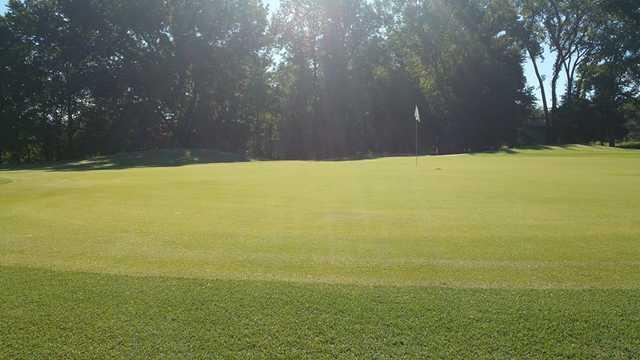 A view of a green at Fair Oaks Golf Club.