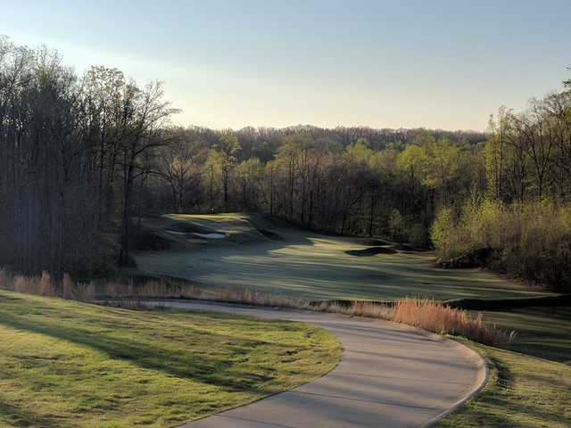 A view of a fairway from The Ridges at Village Creek.