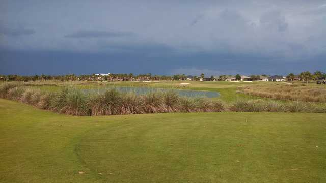 A view over the water from Tarpon Boil at The Villages Executive Golf Trail (George Bieniaszek).