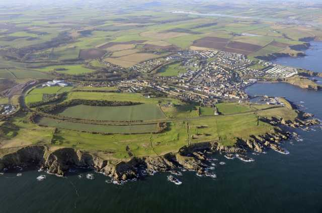 Aerial view of the Eyemouth Golf Club