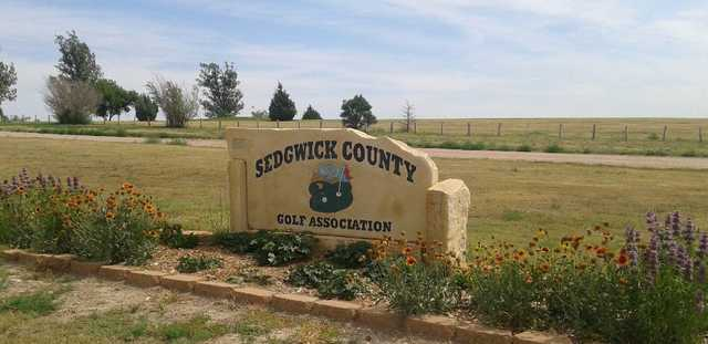 A view of the sign at Sedgewick County Golf Club.