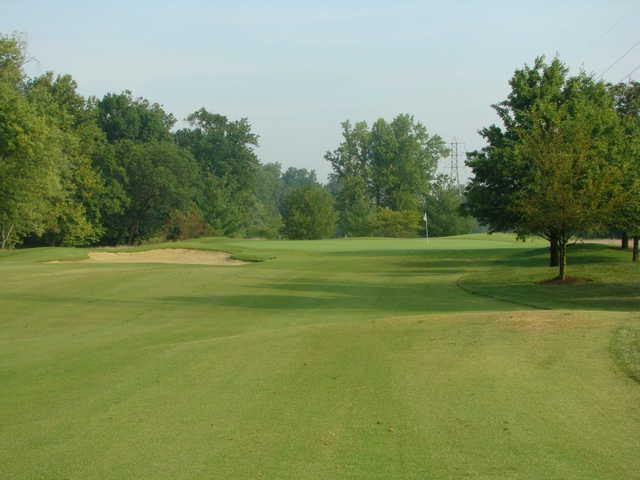 A view of a green at Hidden Creek Golf Club.
