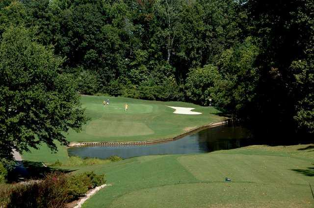 A view of hole #15 at Raleigh Golf Association