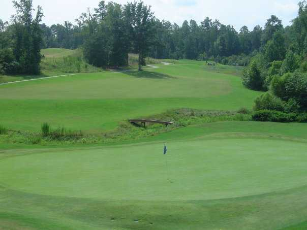 A view of the 11th green at River Ridge Golf Club