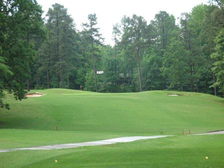 A view of hole #4 from tee at Wildwood Green Golf Course