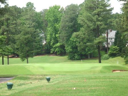 A view of hole #17 from tee at Wildwood Green Golf Course