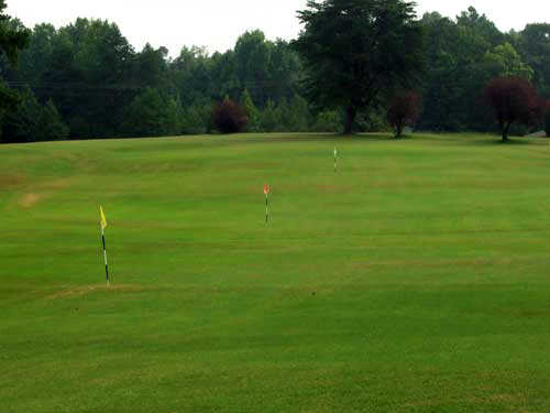 A view of the practice area at McCanless Golf Club