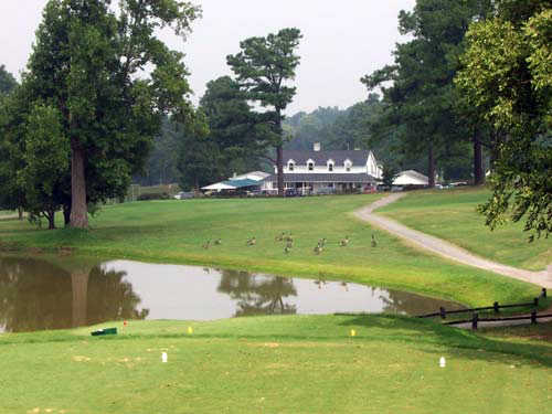A view of the 6th hole at McCanless Golf Club