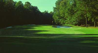 A view of green #4 at Carolina Trace Country Club - Creek Course