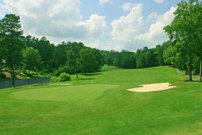 A view of the 15th green at Carolina Trace Country Club - Creek Course