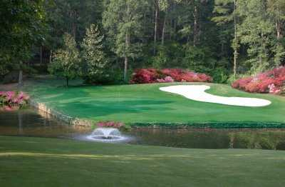 A view of signature hole #8  at Carolina Trace Country Club - Lake Course