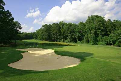 A view of the 2nd hole at Carolina Trace Country Club - Lake Course