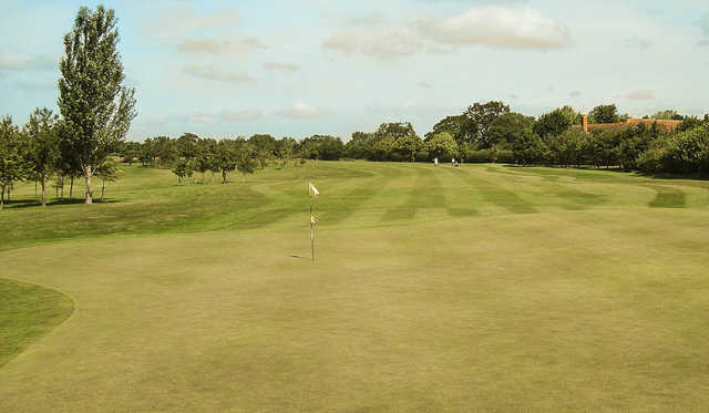 A view of the 3rd green at Eaton Golf Club.