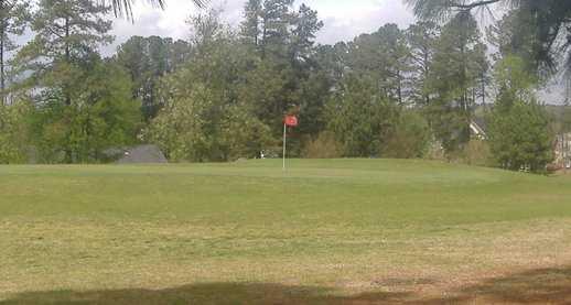 A view of a green at Quail Ridge Country Club