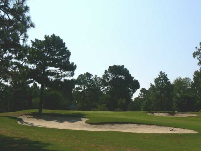 A view of hole #17 at Longleaf Golf & Family Club