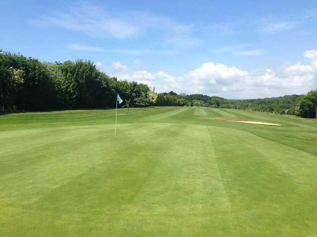 A view of a green at Avisford Park Golf Club.