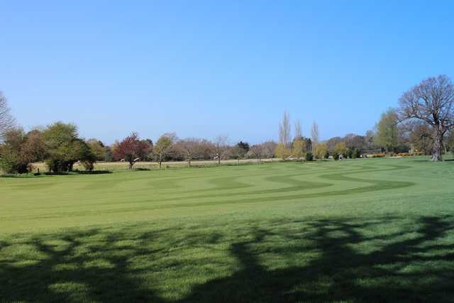 A view of a fairway at Avisford Park Golf Club.