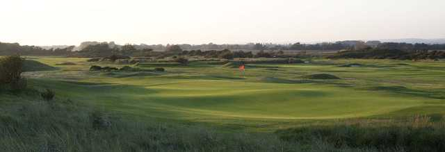 A view of a hole at Littlehampton Golf Club.