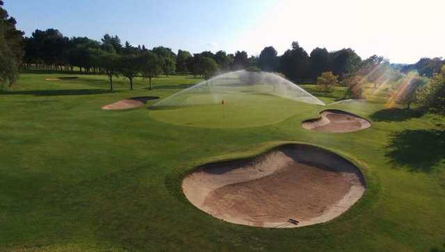 A view of a well protected hole at South Staffordshire Golf Club.