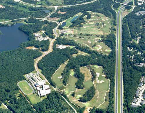 Aerial view from Lonnie Poole Golf Course