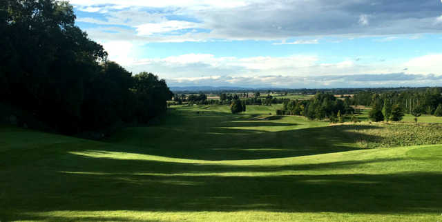 A view of a fairway at Oak Park Course from Carlow Golf Club.