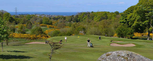 A sunny day view from Clandeboye Golf Club.