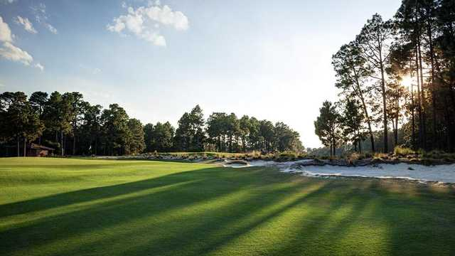 A view of a hole at Abbey Springs Golf Course.
