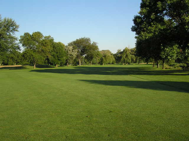 A view of a fairway at Buffalo Grove Golf Course.