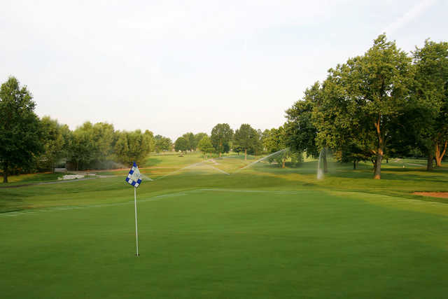A view of hole #2 at Blue Springs Country Club.