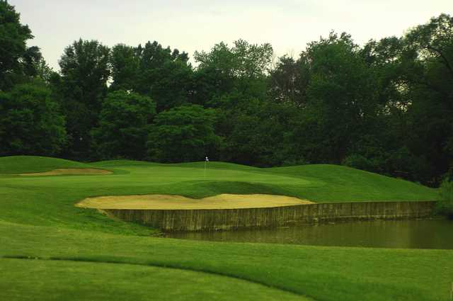 A view of the 7th hole at Indian Boundary Golf Course.