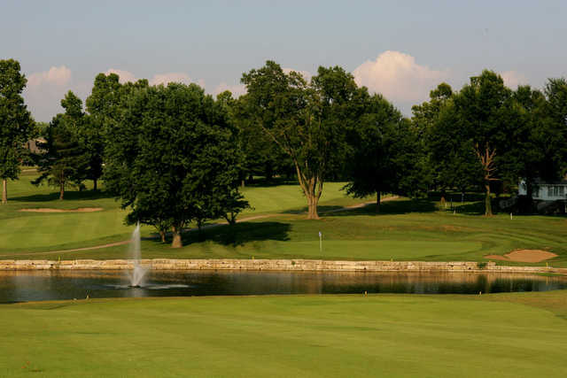 A view of the 12th hole at Blue Springs Country Club
