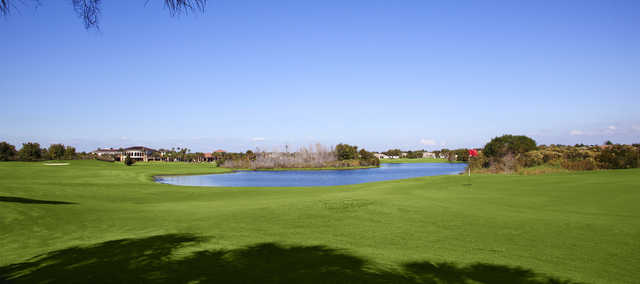 Looking back from the 1st green from Osprey Course at Scepter Golf Club