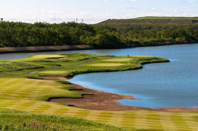 A view of a tee at Harborside International Golf Center.