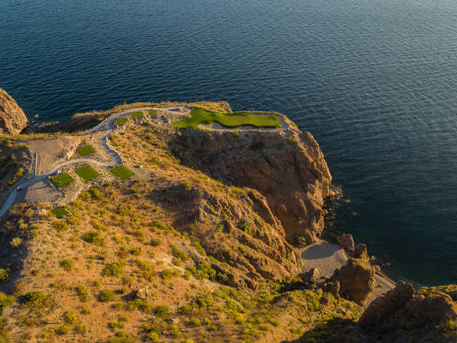Aerial view of the 17th hole at TPC Danzante Bay