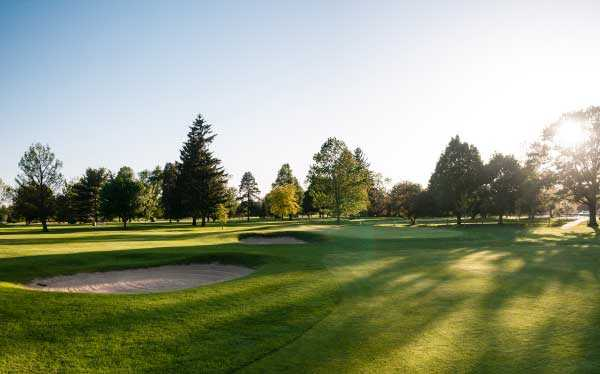 A view of a green at University of Notre Dame Golf Course.