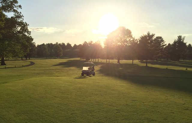 A sunny day view from Bays Mountain Golf Club.