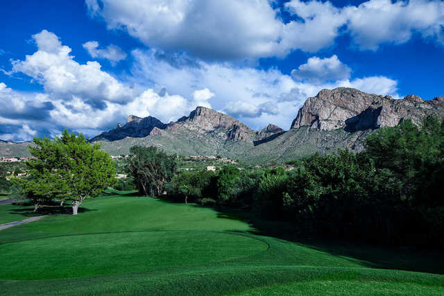 A view from a tee at Pusch X9 Course from El Conquistador Golf & Tennis.
