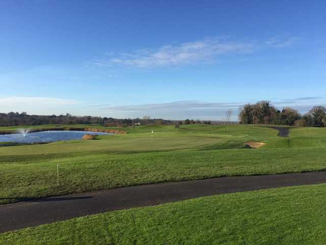 A sunny day view of a hole at Castleknock Golf and Country Club.
