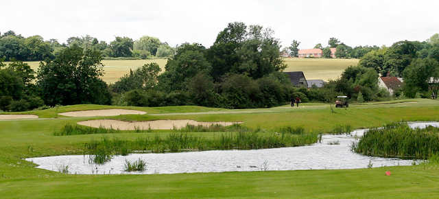 A view from a tee at Playgolf Colchester.