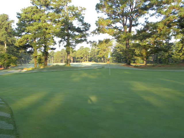 A view of hole #13 at Southern Pines Golf Club